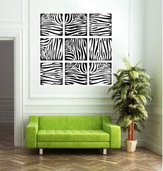 Wall Decal   Zebra Print Squares  for my room !