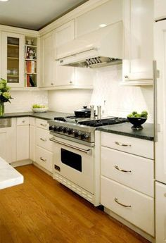 Kitchen Ideas : Decorating With White Appliances / Painted Cabinets Part 89