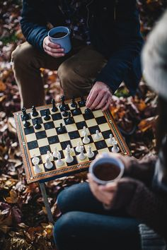 "Nice photo but too bad the board is set up incorrectly. White square should always be in the near right hand corner. Thus the king and queen are on the wrong squares. ""coffee & chess"" 