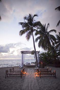 Beach Wedding Inspiration I like the benches #beachweddingideas #destinationwedding #beachbride