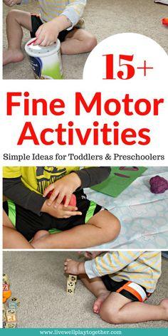 15+ Fine Motor Activ