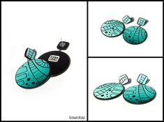 Graphic drop earrings - Lorasrobas
