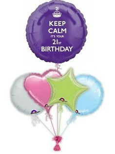 Keep Calm 21 30th Birthday Balloons 21st Party