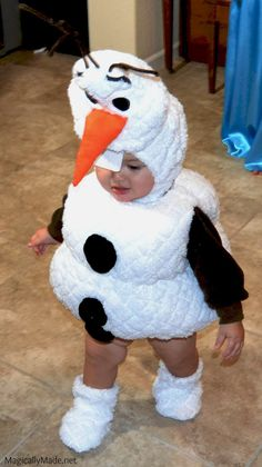 Frozen Olaf Costume ePattern for sizes 18 months, This pattern includes pattern for Olaf hat, body and booties. Olaf Halloween Costume, Snowman Costume, Halloween 2014, Family Halloween Costumes, Baby Halloween, Toddler Costumes, Baby Costumes, Baby Olaf Costume, Frozen Kids