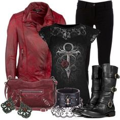 A fashion look from November 2012 featuring MuuBaa jackets, Ann Demeulemeester jeans and Fiorentini + Baker boots. Browse and shop related looks. Look Fashion, Winter Fashion, Fashion Outfits, Womens Fashion, Lolita Fashion, Fashion Boots, Prep Fashion, Hipster Outfits, Emo Outfits