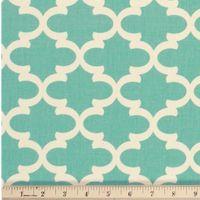 Quatrefoil Fabric Village Blue made by Premier Prints Inc