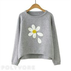 Grey Flower Print Raglan Sleeve Dip Hem Sweater Shop Grey Flower Print Raglan Sleeve Dip Hem Sweater at victoriaswing, personal womens clothing online store! high quality, cheap and big discount, latest fashional style! Floral Sweater, Floral Print Shirt, Grey Sweater, Loose Sweater, Floral Shirts, Cropped Sweater, Grey Flowers, Grey Shirt, Jumper Shirt