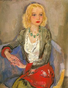 Jan Sluijters (Dutch, 1881-1957) Portrait of Karin Leyden - 1931
