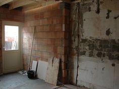 overgang van bestaande keuken naar de aanbouw
