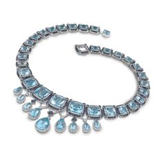 LeVian Black & Blue Sea Blue Aquamarine