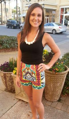 High waisted shorts are now in! Shop Destin Stars Boutique online or call us to order 850 424 6686 only $34.95!! #spring #fashion