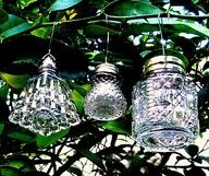 Handmade ornaments out of vintage salt and pepper shakers!