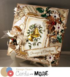 Christmas card using a stamp by Nellie Snellen as well as a sentiment and die by Joy Crafts.