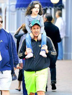 Adam Sandler - Caught on camera was Adam Sandler and his look-alike daughter Sadie! ♥ If you enjoyed my pin, pls do visit my celebrity site at http://www.celebritysizes.com/ ♥ #celebritysizes #celebritydad #adamsandler