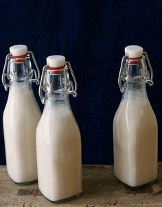 Three Bottles of Almond Milk