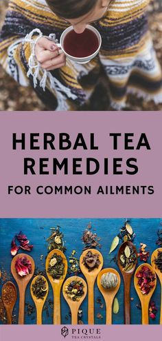 Herbal Tea Remedies for Common Ailments - Before all the pills and syrups came about, herbal tea remedies have long been used to fight off even the strongest woe, be it physical, mental, or emotional. If you're trying to take a more holistic approach to medicine, try herbal tea remedies instead. Read on for your guide to herbal teas. #TeaForHealthBenefits #TeaForHealth  #TeaBenefits #Health #Holistic #HealthyLiving #HealthyLifestyle #Healthy #Pique #PiqueTeaCrystals #TeaCrystals Herbal Teas, Herbal Tea Benefits, Lemon Benefits, Natural Home Remedies, Herbal Remedies, Healing Herbs, Natural Medicine, Herbal Medicine, Tea Recipes