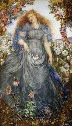 Henry John Stock, The Flower Maiden ca. 1880-1930.