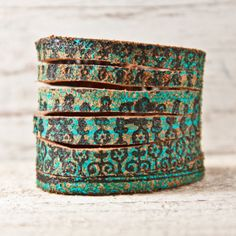 turquoise leather cuff Nice and Pretty +dreadstop @DreadStop