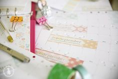 Complete set of homemade planner printable sheets