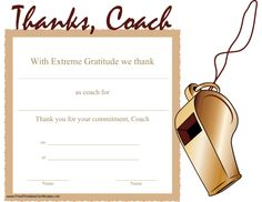 A printable certificate thanking a coach for his or her commitment. Softball Team Gifts, Baseball Coach Gifts, Cheerleading Gifts, Baseball Mom, Free Basketball, Basketball Gifts, Basketball Coach, Hockey Gifts, Coach Appreciation Gifts