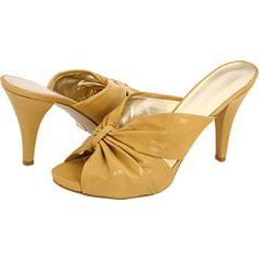 #Zappos #NineWest - Amberly in yellow leather. $57.90 (on sale). Were I planning a spring/summer wardrobe, these would be perfect. However, Minnesota in February is not kind to exposed toes.