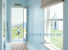 """The 2014 Benjamin Moore Color of the Year…""""breath of fresh air."""" Comfort & simplicity. Think of the ocean. Just breathe."""