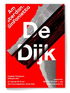 Amsterdam Sinfonietta: Visual Identity, Interactive & Web by Studio Dumbar Creative Typography, Graphic Design Typography, Graphic Prints, Graphic Posters, Design Posters, Typography Inspiration, Graphic Design Inspiration, Love Design, Design Art