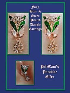Betsy Johnson Foxy Dangle Crystal Earrings