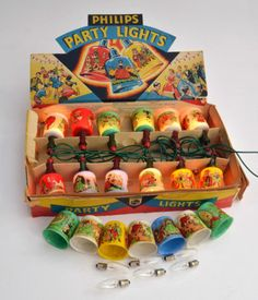 vintage Christmas party lights