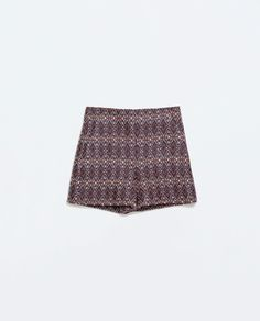 Image 6 of HIGH WAIST JACQUARD SHORTS from Zara