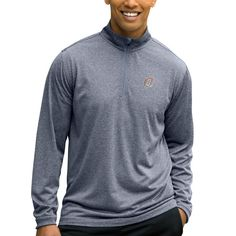 Nebraska Omaha Mavericks Mesh Tech 1/4-Zip Pullover Sweater - Charcoal