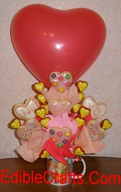 Cute Valentines Day gifts  - Cndy & Cookie Bouquet