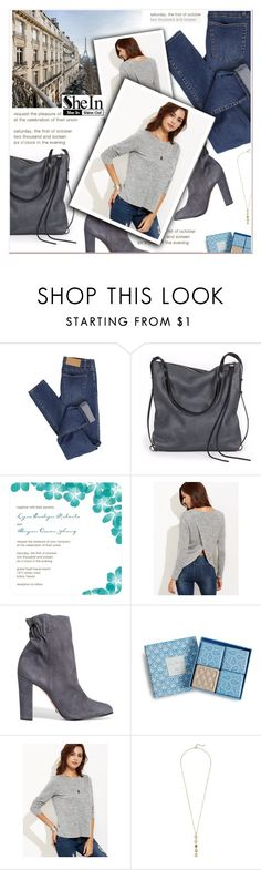 """""""http://www.shein.com/Grey-Marled-Knit-Split-Back-T-shirt-p-310827-cat-1738.html?"""" by janee-oss ❤ liked on Polyvore featuring Cheap Monday, Ina Kent, Schutz, Vera Bradley and Cole Haan"""