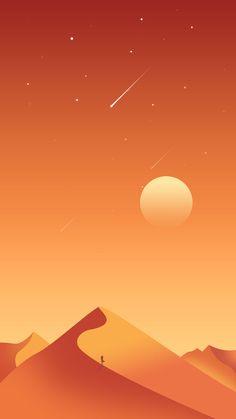 flat illustrator desert