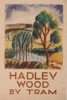 Hadley Wood by tram - 1924 - (Mcknight Kauffer) -