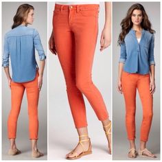 HP❤️NEW❤️Vince ankle crop skinny in tomato HOST PICK 5/25. Such a fun, unique color is the perfect pop of color for your next outfit! Color is called tomato but it's more of an orange than a red. ⭐️⭐️For more information, measurements, and exclusive discounts on this and many more items check out www.quotureclothing.com  Want the direct link to this item? Comment your email below and i'll send it to you! ⭐️⭐️ Vince Jeans Ankle & Cropped