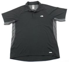 The North Face Vapor Wick Polo Shirt Mens XL Short Sleeve Black Gray Polyester #TheNorthFace #PoloRugby