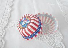 25 Cupcakeförmchen / Muffinförmchen von Nostalgie-Schmiede auf DaWanda.com