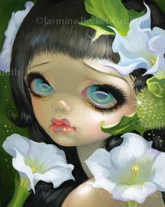 Poisonous Beauties V: Datura - Strangeling: The Art of Jasmine Becket-Griffith