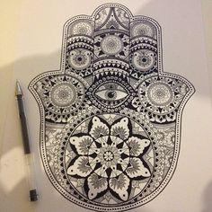 Hamsa Hand Drawing Tumblr Hamsa hand �alfred basha