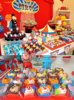 The Acrobatic Shapes of Circus Cake Ideas, Circus Birthday Party Ideas