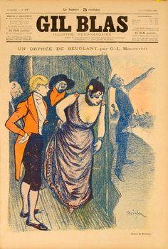 1900s Gil Blas vintage magazine cover