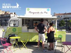Citroen HY. Marguerite du Pré. Food truck - Frozen Yoghurt. Citroen Type H, Citroen H Van, Mobile Cafe, Mobile Shop, Bbq Smoker Trailer, Paris New York, Coffee Van, Food Vans, Meals On Wheels