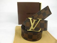 Louis Vuitton Damier Canvas Belt with Gold LV Buckle Ceinture Louis Vuitton, Louis Vuitton Belt, Louis Vuitton Handbags, Louis Vuitton Damier, Designer Belts, Watches Online, Watch Brands, Luxury Watches, Rolex