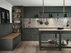 Kitchen Paint, Home Decor Kitchen, New Kitchen, Kitchen Dining, Kitchen Cabinets, Modern Kitchen Design, Interior Design Kitchen, Farmhouse Interior, Minimalist Kitchen