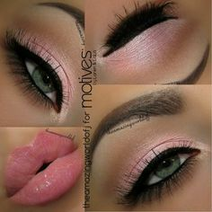 makeup eyes lips
