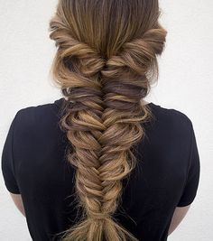 Braid goals via Hair & Make Up By Steph! www.hellohair.com.au #haircrush #hairgoals #hairenvy #hairposts #hairbraid #fishtailgoals