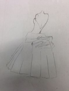 Dior gown sketch