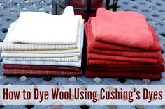Last week I shared my list of basic supplies and how I draw out patterns for my hooked rugs. This week I thought I'd share how I dye 100% wool fabric using Cushing's Perfection Dyes. Next week I'll show you how I hook my rugs. When you are searching for...
