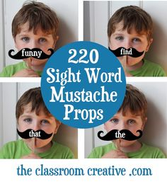 mustache sight word